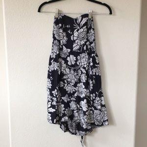 Strapless Tie-Back Hollister Floral Dress